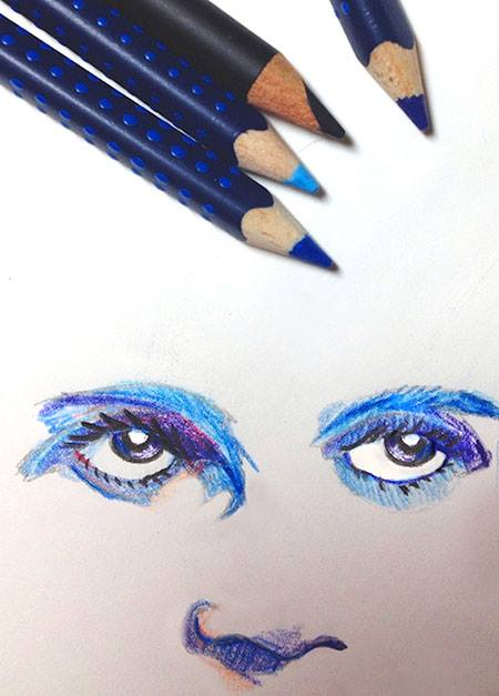 Sketch of my eyes by Dave_aug2013