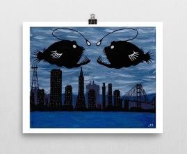 Anglerfish_poster_8x10_wall horizontal_mockup