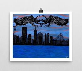 Cuttlefish_poster_8x10_wall horizontal_mockup